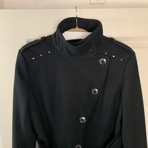 Kenneth Cole Jackets & Coats - Kenneth Cole wool blend pea coat black size 6